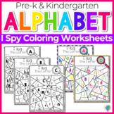 Alphabet No-Prep Printables plus centers for Letter Recognition: Letter I Spy!
