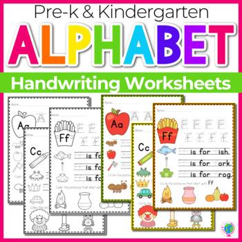 Alphabet No-Prep Printables plus centers for Letter Recogn