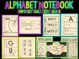 Alphabet Notebook { 6 Interactive Activities & Alphabet Hat}