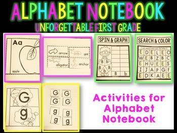 Alphabet Notebook { 6 Interactive Activities & Alphabet Hat}