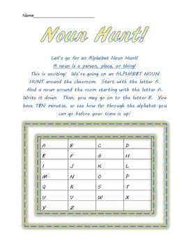 Alphabet Noun Hunt!