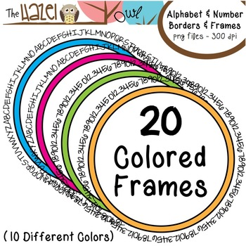 Alphabet & Number Borders & Frames Set: Graphics for Teachers