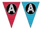 Alphabet & Number Bunting Banner - Classroom Decor - Large Bold Triangles