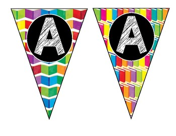 "Alphabet & Number Bunting Banner - Classroom Decor - Large ""I Like Big Books"""