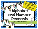 "Alphabet & Number Bunting Banner - Classroom Decor - Small ""I Like Big Books"""