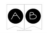 Alphabet & Number Bunting (Black & White)