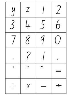 Alphabet & Number Cards