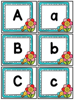 Alphabet & Number Cards Spring  Dollar Deal
