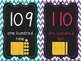 Alphabet & Number Cards for the Classroom (chalkboard/chevron)