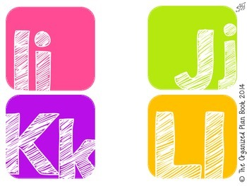 Alphabet & Number Classroom Labels (Pink Party)