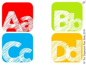 Alphabet & Number Classroom Labels (Rainbow Candy)
