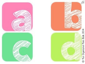 Alphabet & Number Classroom Labels (Sherbert)