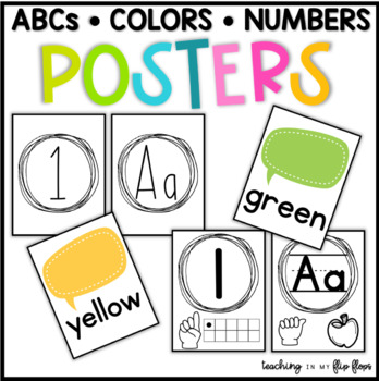 Alphabet, Number, & Color Posters