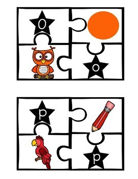 Alphabet, Number, Color, and Picture Puzzles