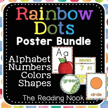 Alphabet, Number, Color and Shapes Poster BUNDLE
