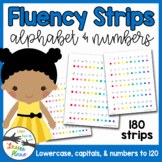 Alphabet & Number Fluency Strips (Upper & Lowercase, Numbers 1-120)