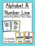 Alphabet & Number Line-Handwriting without Tears