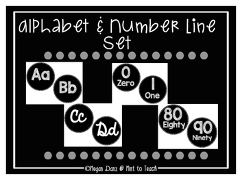 Alphabet & Number Line Set