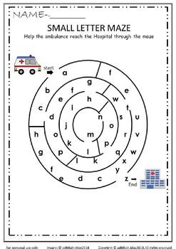 Alphabet & Number Maze