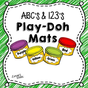 Alphabet & Number Play-Doh Mats {NO DITTOS}