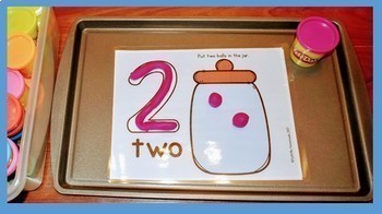 Alphabet & Number Playdough Mats