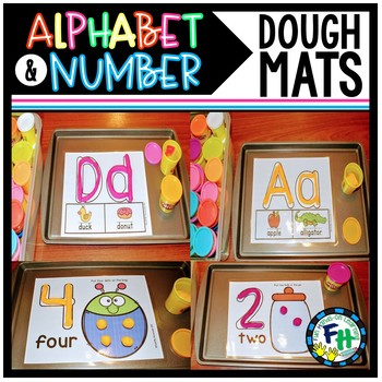 Alphabet & Number Dough Mats