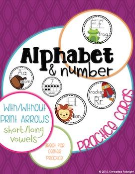 Alphabet & Number Practice Cards