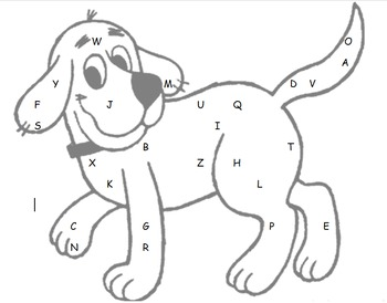 Alphabet & Number Recognition: Highlight the letter or number on Clifford