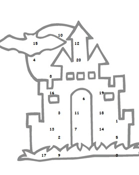 Alphabet & Number Recognition: Highlight the letter/number in the Haunted House