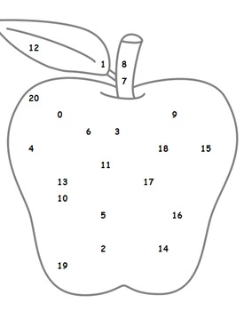 Alphabet & Number Recogntion - Highlight the letter or number on the apple