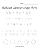 Alphabet Number Shape Trace