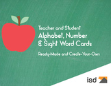 Alphabet, Number & Sight Word Cards K-1 TE