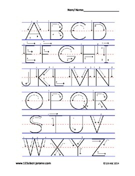 Alphabet & Number Stencils