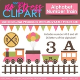 Alphabet Number Train Pink Set (Digital Use Ok!)