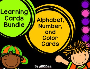 Alphabet, Number, and Color Cards Bundle