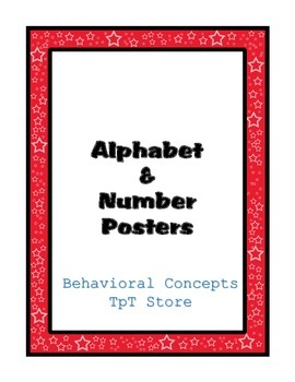 Alphabet, Number and Colors Posters (Red Border)