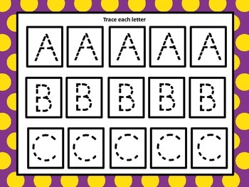 Alphabet, Number and Shape Wipe Off Cards