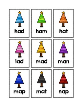 Alphabet, Number and Sight Word Pocket Chart Game (Christmas Theme)