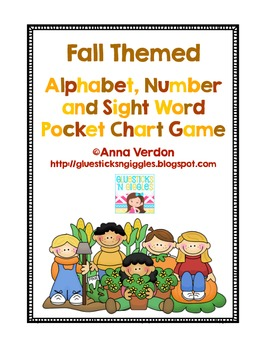 Alphabet, Number and Sight Word Pocket Chart Game (Fall Theme)