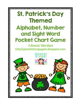 Alphabet, Number and Sight Word Pocket Chart Game (St. Patrick's Day Theme)