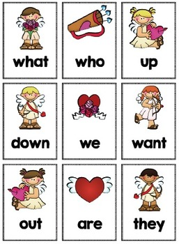 Alphabet, Number and Sight Word Pocket Chart Game (Valentine Theme)