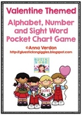 Alphabet, Number and Sight Word Pocket Chart Game