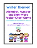 Alphabet, Number and Sight Word Pocket Chart Game (Winter Theme)