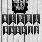 Alphabet, Number, and Symbols Chalkboard Banner