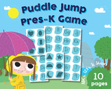 Alphabet, Numbers 1-20, Shapes, Puddle Jump Game, Preschoo