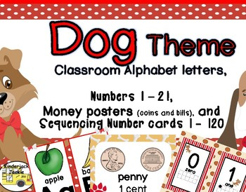 Alphabet, Numbers 1 - 21, and Money classroom decor