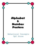 Alphabet, Numbers & Colors Posters (Circles)