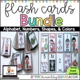 Alphabet, Numbers, Colors, and Shapes Flash Cards Bundle