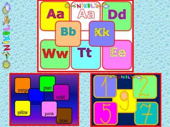 Alphabet - Numbers - Colours - Cards - Back to school activities