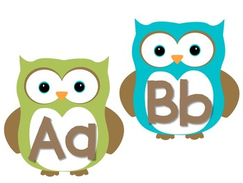 Math & Literacy Centers    - Numbers/Alphabet (Owls)